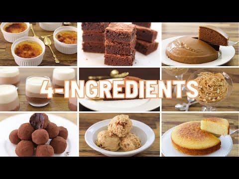 9 4-Ingredient Dessert Recipes