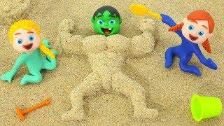 Download BABY HULK BECOMES MUSCLE MAN ❤ Superhero & Frozen Elsa Play Doh Cartoons For Kids Video