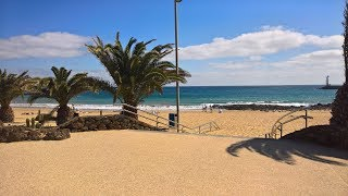Download Costa Tequise (Lanzarote) beach and town tour Video