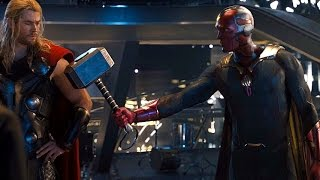 Download Avengers: Age of Ultron - Vision lifts Thor's Hammer (Scene) Movie CLIP HD Video