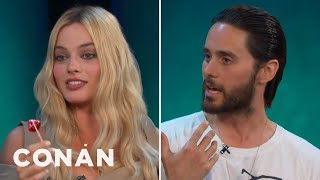 Download Jared Leto & Margot Robbie Got Shaved Down For ″Suicide Squad″ - CONAN on TBS Video