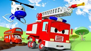 Download Sticky Mud !! The Car Patrol: Fire Truck and Police Car in Car City | Cartoon Car for children Video