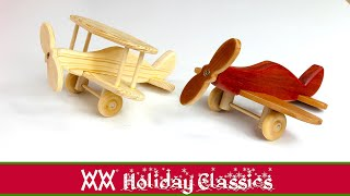 Download Toy Planes. Easy Woodworking Project. Free Plans! Video