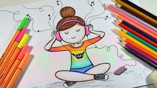 Download Como desenhar Bonequinha Tumblr Ouvindo Música #arteeciabrasil Video