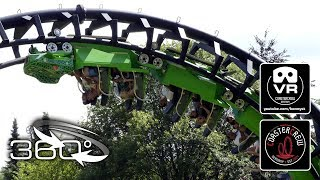 Download 360° Speedsnake free | Vekoma Sunkid Roller Coaster - #360video VR on-ride POV Fort Fun Video