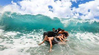 Download HUGE SHOREBREAK WAVES BROKE MY COUCH Video