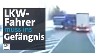 Download LKW-Fahrer verurteilt: Haft für lebensgefährliches Überholmanöver auf der B12 | Abendschau | BR24 Video
