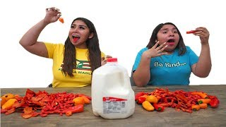Download Last One To DRINK Milk WINS $1,000(WORLD'S SPICIEST FOODS) Video