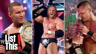 Download 8 times a championship changed hands multiple times in one night: WWE List This! Video