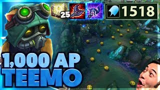 Download 60% CDR MUSHROOMS | ACROSS THE MAP QUADRAKILL | 1,000 AP TEEMO - Bunny FuFuu Video