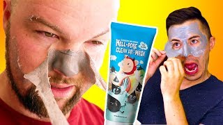 Download Men Try the Most Painful Face Mask - Hell Pore Clean Up Mask Video