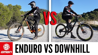 Download Enduro Vs Downhill Mountain Bike Race | Which Is Faster? Video