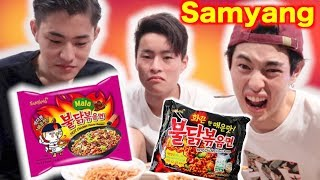 Download EXTREME SPICY NOODLE CHALLENGE BY JAPANESE BROTHERS!!!(SAMYANG) Video