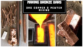 Download 3KG Bronze Blocks from Mixing Copper & Pewter - Bronze From Scrap Video
