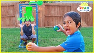 Download Splash Dunk Tank Challenge Family Fun Activities with Ryan ToysReview!!! Video
