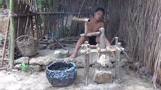 Download Primitive Life-Make A Millstone!-Primitive Technology used! Video