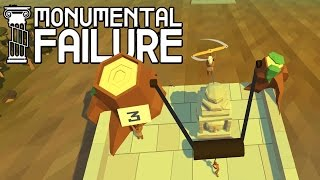 Download Building Banyon Temple and Moai W/ Giant Slingshot, Tank, Hoverboards! - Monumental Failure Gameplay Video