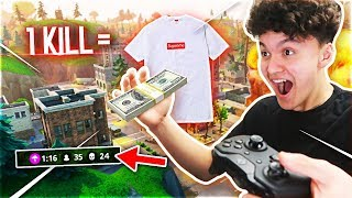 Download Giving My Little Brother $1,000 For Every Kill on Fortnite: Battle Royale (Supreme ONLY) Video