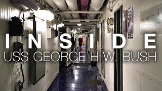 Download A Short Walk Aboard Aircraft Carrier USS George H.W. Bush As Strike Group Leaves For Deployment Video