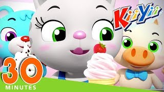 Download Ice Cream Song | Plus Lots More Nursery Rhymes | 30 Minutes Compilation from KiiYii! Video