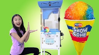 Download Pretend Play Food Truck Toy with GIANT SNOW CONE Video