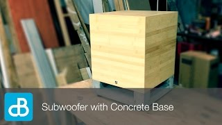 Download Subwoofer Build with Concrete Base - by SoundBlab Video