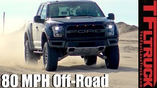 Download 2017 Ford Raptor: 80+ MPH Baja Mode Off-Road Review Video
