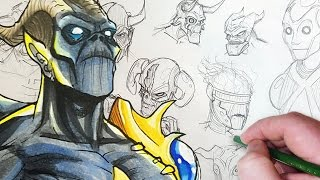 Download Drawing a Cybernetic Demon! (Character Design Session) Video