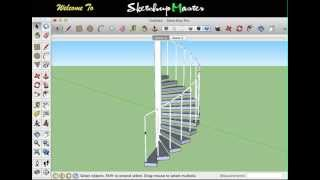 Download sketchup - spiral staircase Video