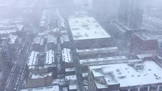 Download Chicago *Skyline* Snow Day (April 14, 2019) Video