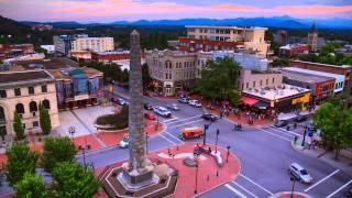 Download Downtown Asheville Time Lapse: Sunrise-to-Sunset in a Blue Ridge Mountain City Video