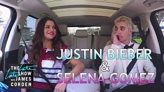 Download Justin Bieber & Selena Gomez Carpool Karaoke Video