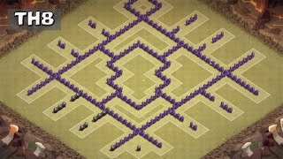 Download Clash of Clans - New Town hall 8 (Th8) War Base - Anti Dragon + Defence REPLAY Video