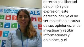 Download Andrea Boza, Spain, reading article 19 of the Universal Declaration of Human Rights Video