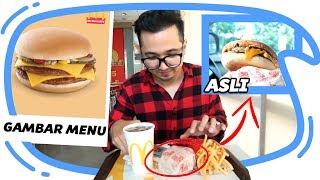 Download GAMBAR MENU vs ASLI NYA edisi McD, KFC dan Burger King - Mari Kita Bandingkan Video