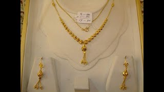 Download Gold Chain Pendant Locket with Earrings Designs in Light Weight for Daily Wear Video