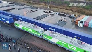 Download New Belt and Road rail freight service launched! It links Finland's Kouvola to China's Xi'an Video