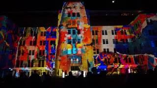Download Vivid Sydney Festival 2016 - Light Projection on MCA Building at Circular Quay Video