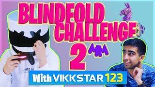 Download FORTNITE BLINDFOLD CHALLENGE PT. 2 w/ VIKKSTAR123 | Gaming with Marshmello Video