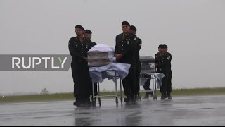 Download Brazil: Chapecoense players' bodies arrive in Chapeco ahead of burial Video