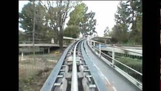 Download Rocket Rods Front Seat POV Disneyland Complete Ride-Through California Defunct Attraction Video