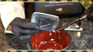 Download Liquid Metal Play Button Melts In Your Hand Video