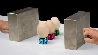 Download Double Monster Magnets VS 3 Eggs in Slow Motion [ Satisfaction 130% ] Video
