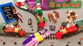 Download Elf on the Shelf - Green Prankster Elf Rides the Train Again! Did Gingerbread Man Make Him Do it??? Video