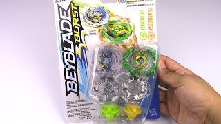 Download KERBEUS K2 & YEGDRION Y2 Double Pack Unboxing!! Beyblade Burst by Hasbro Video