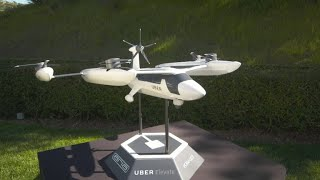 Download First look at Uber's flying taxi models Video