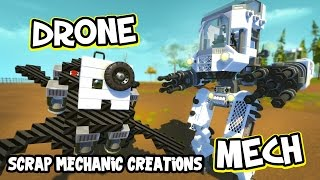 Download Scrap Mechanic CREATIONS! - AMAZING ROBOTS!! [#17] W/AshDubh | Gameplay | Video