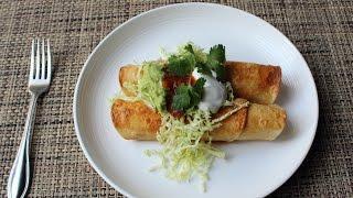 Download Turkey Flautas Recipe - How to Make Crispy Flautas - Thanksgiving Leftover Special! Video