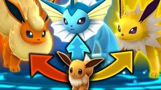 Download Pokemon GO - SECRET EEVEE EVOLUTION TRICK! (GET ALL 3 EEVEELUTIONS) Video