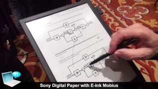 Download Sony Digital Paper DPT-S1 with E-Ink Mobius Video